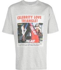 palace love triangle t-shirt - grey