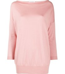 snobby sheep cowl neck cashmere knit top - pink