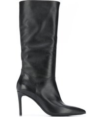 paul warmer boot 80 high-heel boots - black