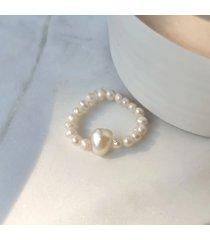 pierścionek elastyczny perły nieregularne