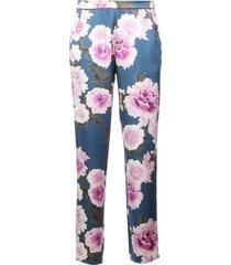 fleur du mal floral pajama trousers - multicolour
