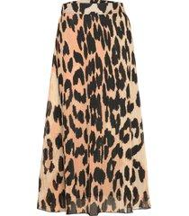 pleated georgette knälång kjol multi/mönstrad ganni