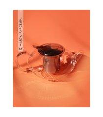 amaro feminino moncloa bule de vidro com infusor para chá 1200ml, transparente