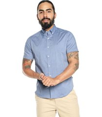 camisa azul nautica