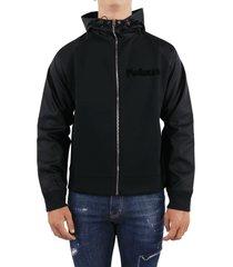 hybrid zipped hoodie neop