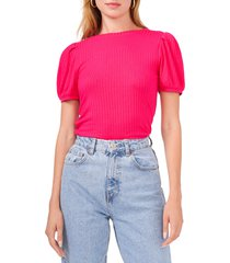1.state puff sleeve rib knit top, size x-small in rose blossom at nordstrom