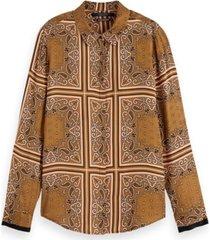 154421 regular drapey shirt in seasonal patterns.