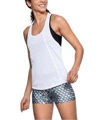camiseta sin mangas mujer under armour fashion tank-blanco