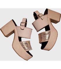sandalia de cuero natural artecueros modelo lugo