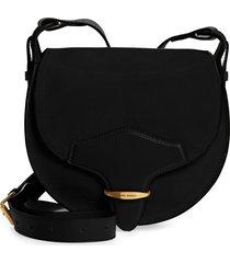 women's isabel marant botsy suede & leather shoulder bag - black