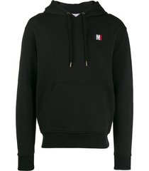 ami ami embroidered hoodie - black