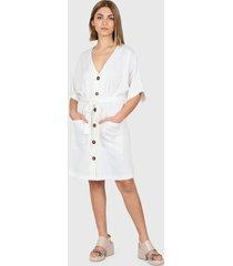 vestido blanco montjuic creta