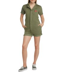 dickies juniors' zip-front romper