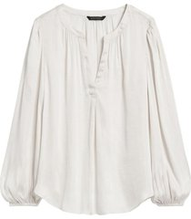 blusa soft satin top blanco banana republic