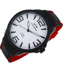 reloj rojo montreal combinado
