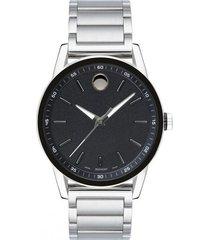 reloj movado 607225 plateado acero inoxidable