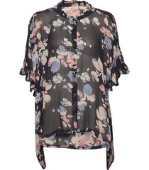 ioya blouses short-sleeved multi/patroon masai