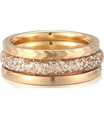 anillo triple dorado kingka