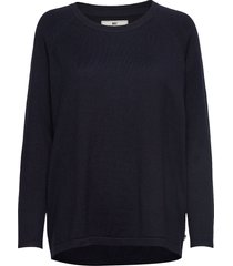 lea sweater gebreide trui blauw lexington clothing