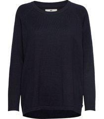 lea sweater gebreide trui blauw lexington clothing
