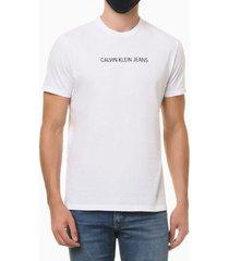 camiseta masculina logo básico branca calvin klein jeans - p