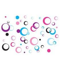 adesivo de parede quartinhos arcos coloridos rosa lilás