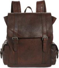 men's bosca vintage leather backpack - brown