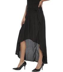falda eclipse perlas negro - calce holgado