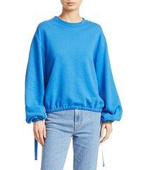 vintage-style terry cotton sweatshirt