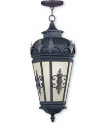 livex berkshire 1-light outdoor chain lantern