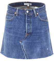 re/done denim mini skirt