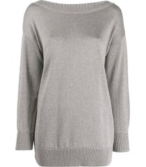 p.a.r.o.s.h. long sleeved pullover - grey