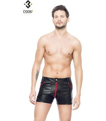 * code8 by xxx collection heren short met mesh - rood