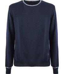 fay blue virgin wool sweater