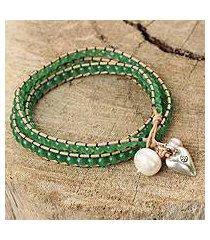 wristband bracelet, 'forest heart' (thailand)