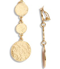 women's karine sultan linear drop earrings