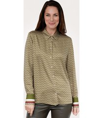 blouse mona groen::beige