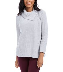 style & co pointelle-knit sweater, created for macy's