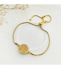 złota bransoletka z monetą , boho prezent