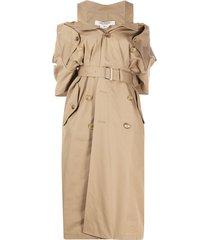 junya watanabe deconstructed trench dress - neutrals