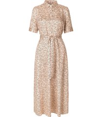 maxi-jurk met bloemenprint wing  naturel