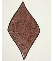 pañuelo marrón portsaid plisado animal print