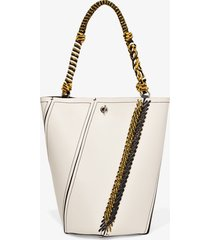 proenza schouler bungee crochet medium hex bucket bag clay/neutrals one size
