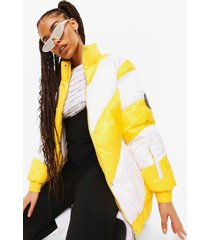 luxe ski jas met panelen, yellow