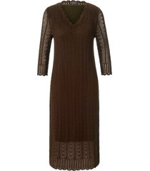 gebreide jurk van 100% katoen met 3/4-mouwen van mybc groen