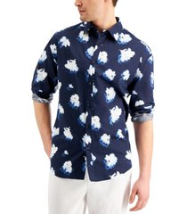 inc international concepts men's oversized-fit floral-print shirt, created for macy's