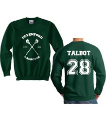 talbot 28 cross devenford prep lacrosse team wolf unisex crewneck sweatshirt