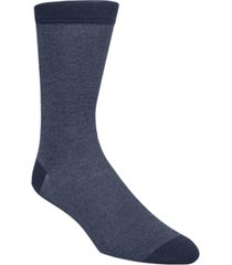 cole haan men's pique knit textured crew socks