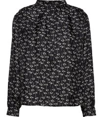 betty shirt blouse lange mouwen zwart nué notes