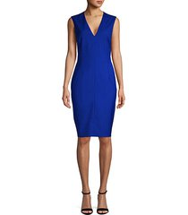 sleeveless wool sheath dress